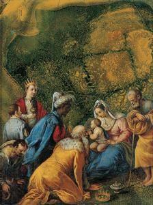 Jacopo Bassano (Jacopo dal Ponte) - Adorazione dei Magi - 1555 - Kimbell Art Museum