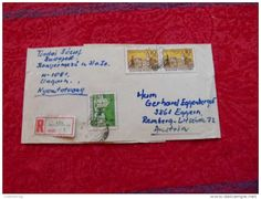 VINTAGE AUSTRIA Old Envelope COVER STAMPS Hungary 8/10 BUDAPEST STAMPS  Traveled - Hungary
