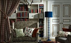 The Moorland Collection is an eclectic range evocative of Charlotte Bronte and the rural beauty of the British fells and moors. Drapery Fabric, Curtains, Free Fabric Samples, English Decor, Curtain Patterns, British Style, Soft Furnishings, Bookcase, Upholstery Fabrics