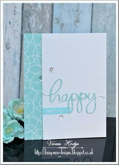 Turquoise Thanks card