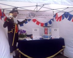 Kevin Cook, Sandwich Town Sergeant & Crier, at the BASH stall