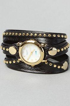 The Bali Stud Watch in Gold by La Mer