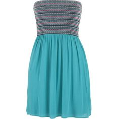 maurices Ethnic Banded Top Dress featuring polyvore, fashion, clothing, dresses, maurices, vestidos, aqua crush, shirred dress, ruching dress, gauze dresses and aqua dresses
