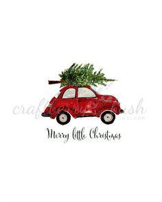 Red Christmas buggy printable