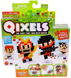 Qixels Theme Refill Pack - Qixels are the amazing pixel cubes that fuse with a blast of water! #qixels #beados #boyscraft #kidscraft #newkidsproducts