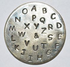 3MM Uppercase Comic Sans Font Alphabet Metal Stamp by TheSupplyGuy, $34.99