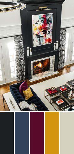 9 Fantastic Living Room Color Schemes - Most creative decoration list Room Colors, Accent Walls In Living Room, Living Room Decor Colors, Living Room Color Schemes, Interior Design Living Room, Room Color Schemes, Living Room Paint, Living Room Grey, Room Paint Colors