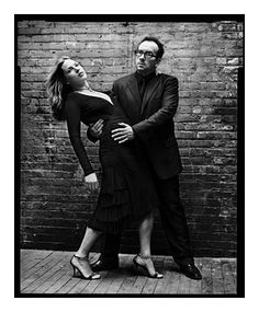 Diana krull and Elvis Costello | by Mark Seliger