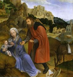 Massys Rest on Flight into Egypt Unique Religious Fine Art Notecards — Collotype Prints