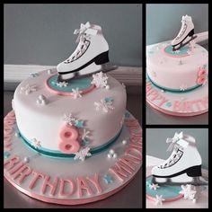 Figure-Skating-themed Birthday Cake