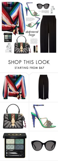 """""""back to 90's color"""" by indahnovianaa ❤ liked on Polyvore featuring Alice + Olivia, Gucci and statementbags"""