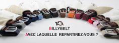 Redécouvrez BILLYBELT : les ceintures Pratiques, Colorées et Unisexes !
