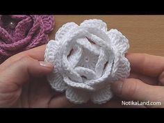 Crochet Flower Rose VERY EASY Tutorial #2 - YouTube
