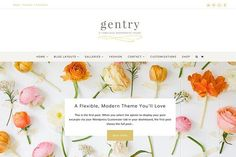 Gentry Feminine WordPress Theme by angiemakeswebsites on @creativemarket