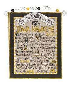 Take a look at this Iowa 'How To' Beaded Canvas by Glory Haus on #zulily today!