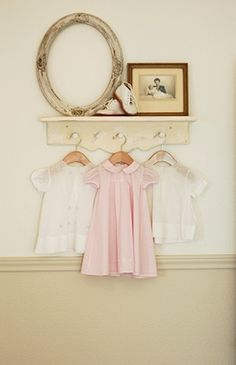 Neutral Nursery. I did this exact thing in my oldest child's nursery. It was a soft antique shabby chic looking room. It was so pretty I loved it!
