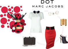 """Dotted Love - #MARCtheDOT with Marc Jacobs Fragrance"" by tanherb on Polyvore"