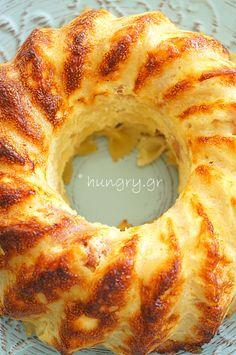 Cookbook Recipes, Cooking Recipes, Kitchen Stories, Greek Recipes, Bagel, Doughnut, Bread, Baking, Farfalle Pasta