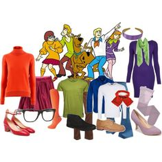 """""""DIY Group Costumes - Cast of Scooby Doo"""" by reneeward400 on Polyvore"""