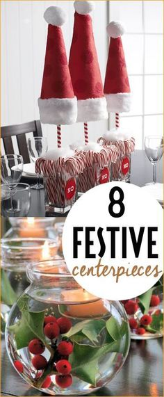 8 Christmas Centerpieces. Fill your home with the aroma and look of Christmas with these easy, cost effective designs.