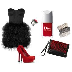 Red and black.   Valentines day combo!