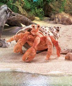 Folkmanis Crab, Hermit Hand Puppet - 2867
