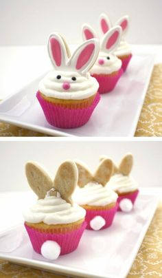 Silly Rabbit Cupcakes....so cute!  #easter