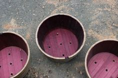 How to Prepare A Half Wine Barrel Planter. Step by Step instructions from Shae of @Shae Irving ( of Hitchhiking to Heaven)