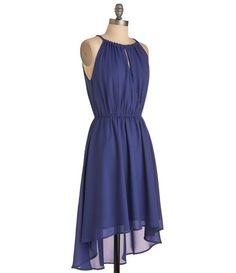 TW_5050 Short Sapphire Asymmetric High-Low Dress