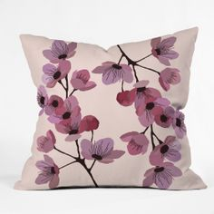 Gabi Linternas Throw Pillow | DENY Designs Home Accessories #pantone #coloroftheyear #radiantorchid