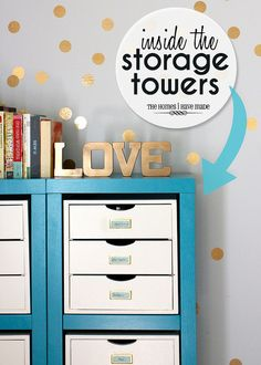 Storing Craft Supplies by TheHomesIHaveMade