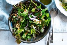 This salad has fabulous bite, crunch and a hint of sweetness from honey.