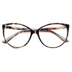 Large Clear Lens Retro Vintage Fashion Cat Eye Eye Glasses Frames Tortoise C222
