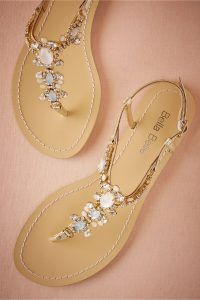 Glittery wedding sandals, pretty and without the fear of tripping down the aisle in my heels...