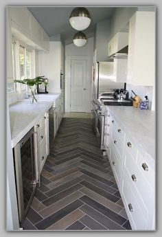 herringbone kitchen floors | herringbone tile floor kitchen | Home Design Gallery