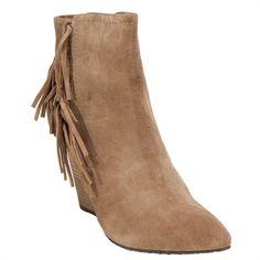 Isolá Antonella Fringed Wedge Bootie | from Von Maur #VonMaur #Boots #FallFootwear