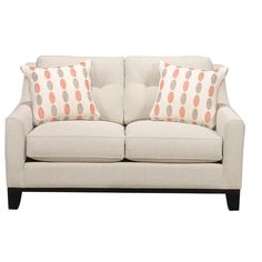 Love seat, but throw away those pillows....
