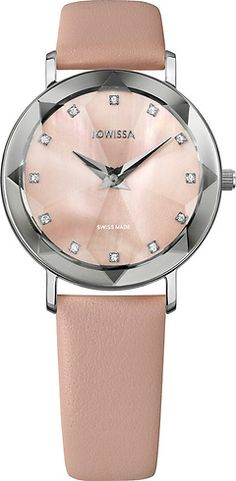 Facet Silver/Rose Mother-of-Pearl mm Ladies' Watch Leather Rose Ladies Watches, Silver Roses, Pearls, Stylish, Lady, Leather, Accessories, Collection, Women