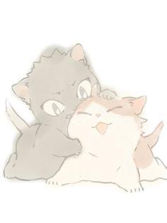 neko!iwaizumi, neko!oikawa, the cutest thing ever!!!!!, http://iluvfksy.tumblr.com/post/136827582433/nig0u-by-noooog-permission-to-upload-was
