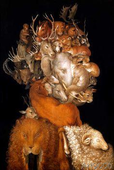 Giuseppe Arcimboldo - Earth (58,0 x 86,0 cm)