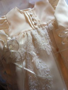 Bespoke Infant Christening/Blessing/Baptism Gown - Custom Made To Order from Mother's Wedding Dress on Etsy, $175.00