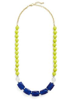 Here at the Cobalt Cabana Necklace, #ModCloth