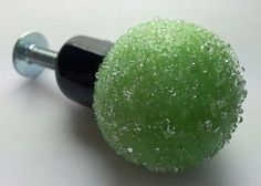 One Handmade Lime Green/Black Sugar Coated  by LALALAMPWORKBEADS, $12.21 looks like sugar gummy candies