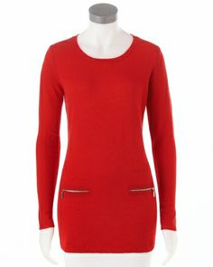 Peck & Peck #cashmere winter scoop tunic sweater