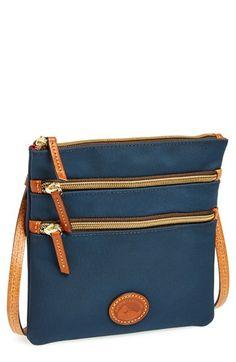 Dooney & Bourke Triple Zip Nylon Crossbody Bag available at #Nordstrom