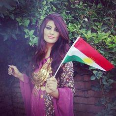 Beautiful Kurdish girl wear kurdish clothes