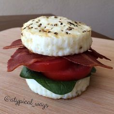 Egg White BLT with Bacon.