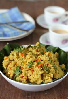 Oats Masala Recipe - upma with a twist. Add oatmeal to your regular semolina upma. Makes for a great breakfast. www.sailusfood.com