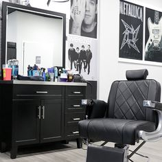 Salon Stations, Styling Stations, Barber Equipment, Salon Equipment, Reclining Salon Chair, All Purpose Salon Chair, Barber Shop Decor, Barbershop Design, Stainless Steel Countertops
