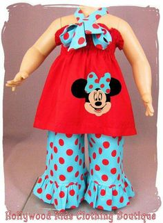 fa0e089f9e4 Items similar to Custom Boutique Girls Clothing Minnie Mouse Tunic Smocked  Top Ruffle Pant Outfit Set 3 6 9 12 18 24 month size 2 3 4 5 6 7 8 on Etsy